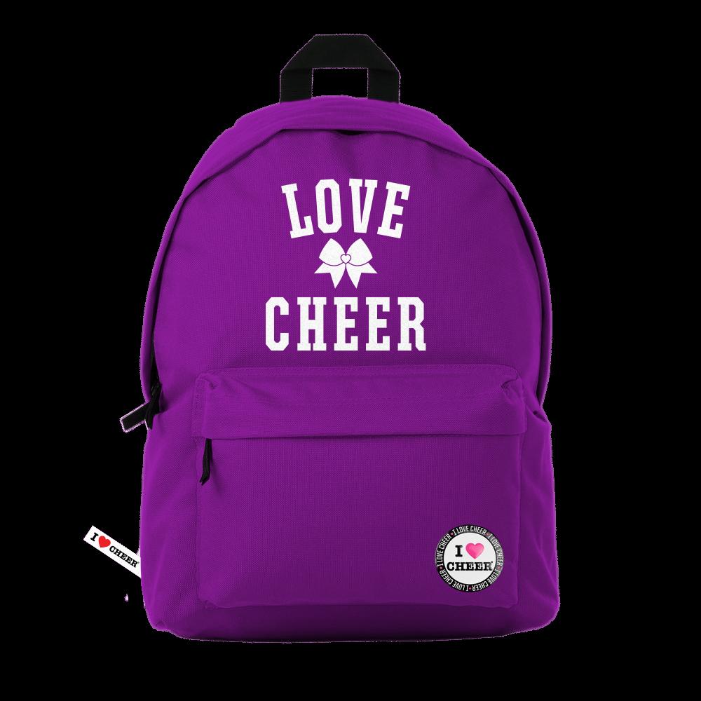 Magenta Love Cheer Glitter Backpack ddd1e0d4a3c33