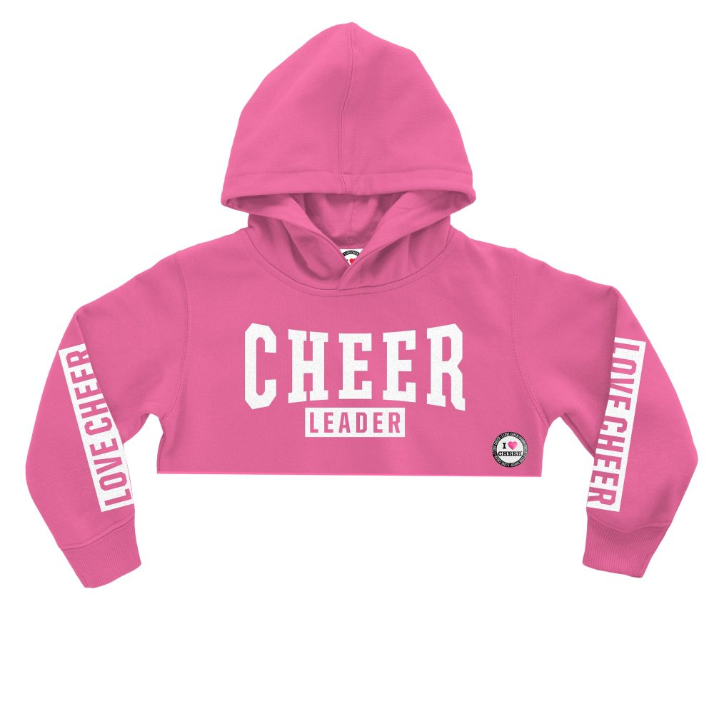 3af9f332e35df Kids Candyfloss Pink Glitter Cropped Hooded Sweatshirt