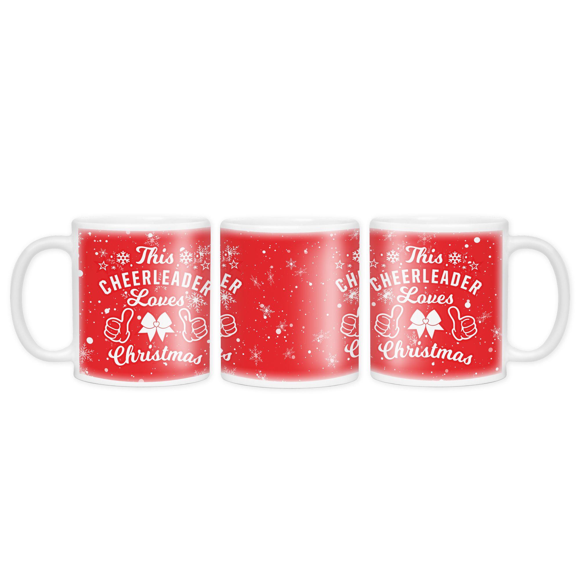 This Cheerleader Loves Christmas I Love Cheer® Mug – I Love Cheer®
