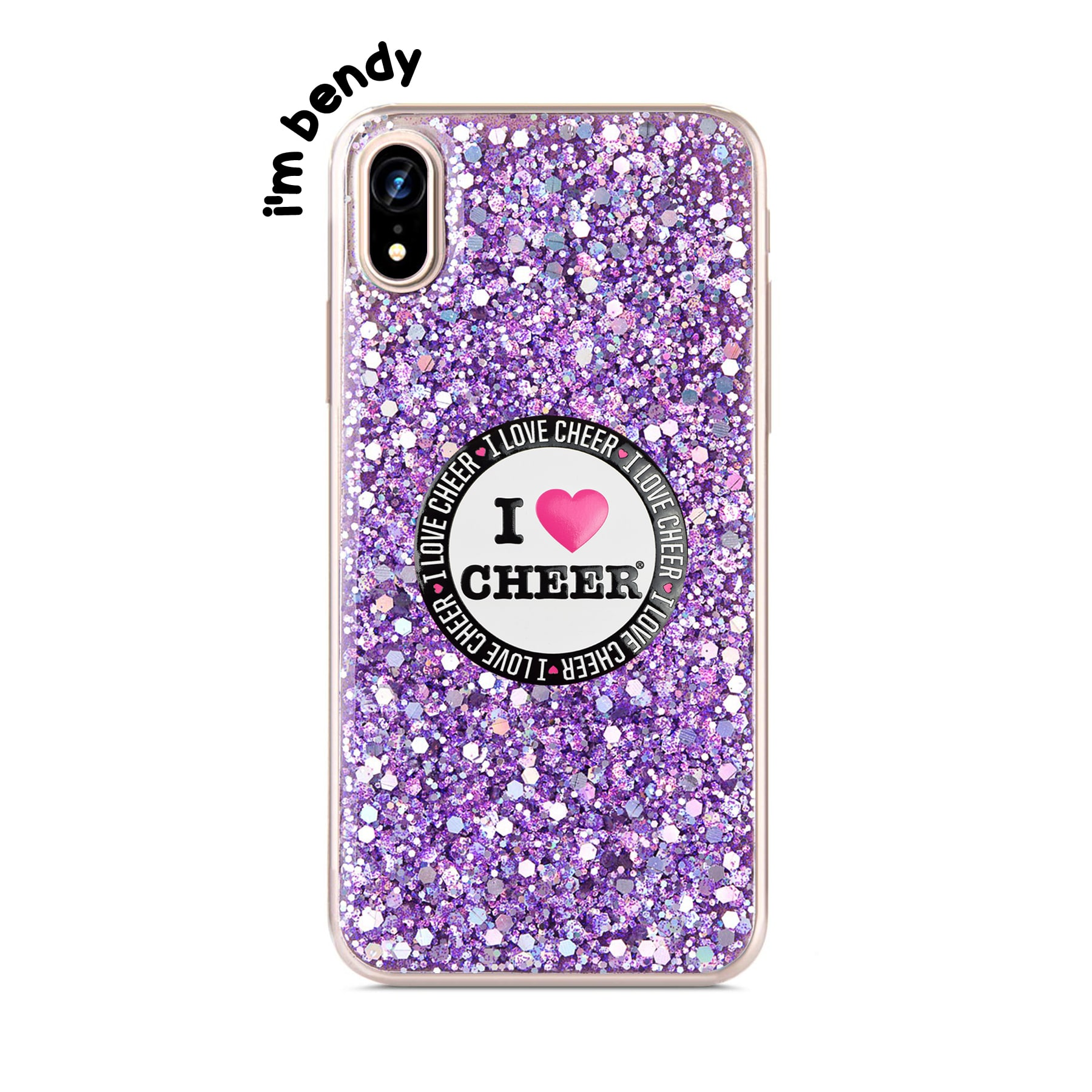 new style a60fa bf5a3 Lilac Sequin Glitter Phone Case
