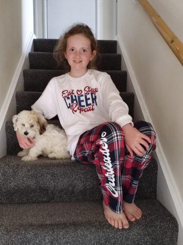 Eat Sleep Cheer Repeat Tartan Pyjama Set photo review